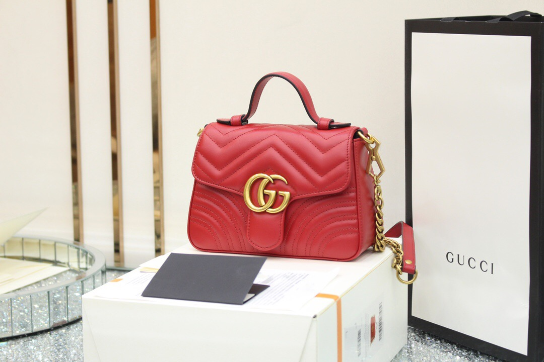 Gucci GG Marmont mini top handle bag 547260 DTDIT 6433